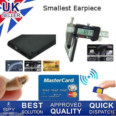 Spy Earpiece New Secret Gsm Id Card Box Bluetooth Wireless Micro Covert Bug 007