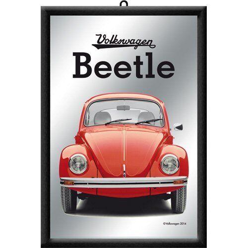 Nostalgic-Art 80727 Volkswagen VW Beetle, Red, Mirror