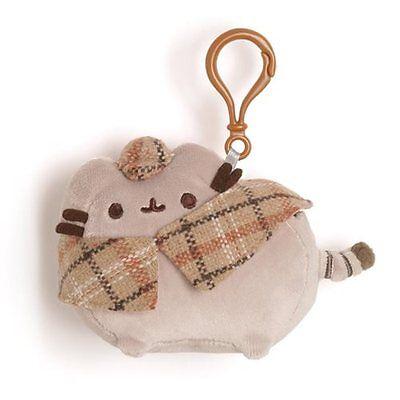 Gund New * Detective Pusheen * Cat Clip-On Backpack Plush Kitty Key Chain