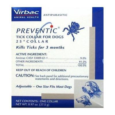Preventic Tick Collar For Dogs, 25''