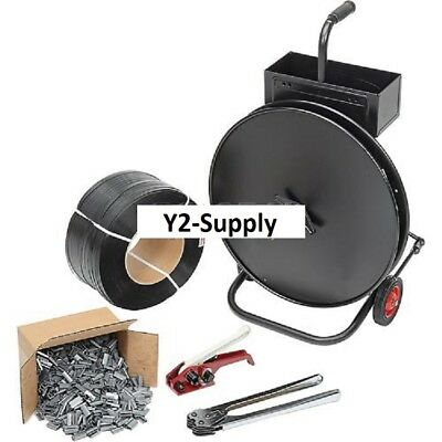 New Strapping Kit 12 X 9000 With Tensioner Crimper Seals Cart