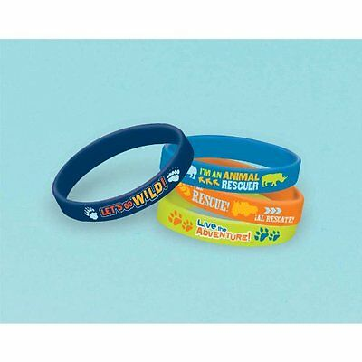 GO DIEGO GO Biggest Rescue RUBBER BRACELETS (4) ~ Birthday Party Supplies Favors](Diego Birthday Party)