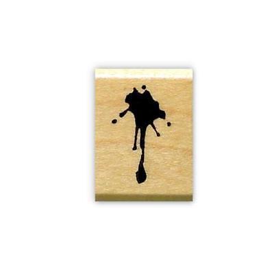 Splat mounted rubber stamp, spill, mess, paint drip, grunge, blood splatter  #15