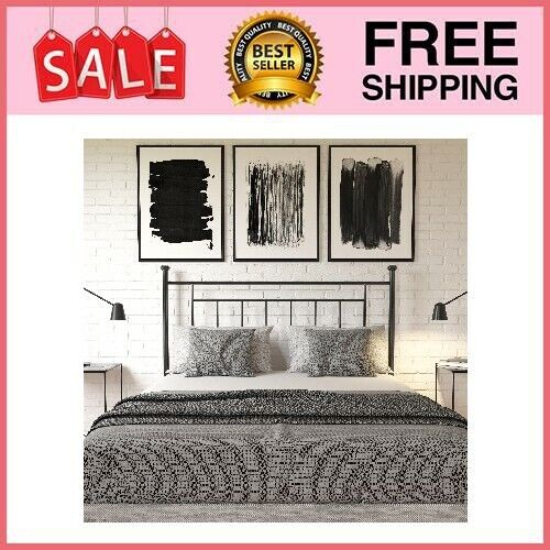 Tempo Full/Queen Adaptable Metal Headboard, Multiple Options Available
