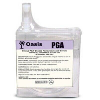 Oasis Veterinary Pga Suture Cassette Braided Absorbable Size 2-0 15 Meters