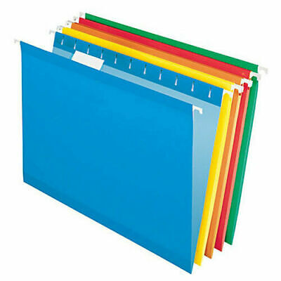 Legal Size Colored Hanging File Folders Five Assorted Colors 25 Ct