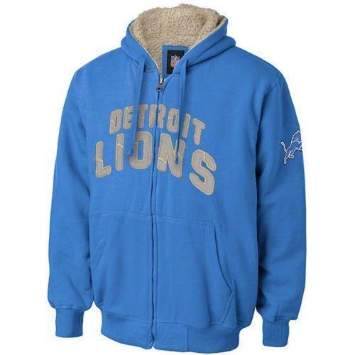 Men's Detroit Lions Starter Light Blue Pro Jacket