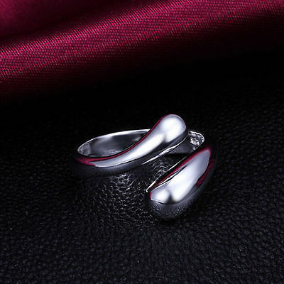 Women Fashion Jewelry 925 Sterling Silver Plated Adjustable Ring Thumb Finger