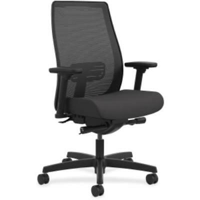 Hon Endorse Mesh Mid-back Work Chair - Black Seat - Black Back - 28.8 X 28.8 X