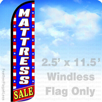 Mattress Sale - Windless Swooper Flag Feather Banner Sign 2.5x11.5 Patriotic Bz
