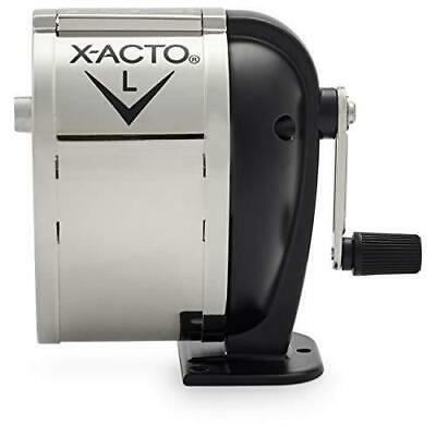 X-acto 1041 Model L Table- Or Wall-mount Pencil Sharpener Chrome Receptacle