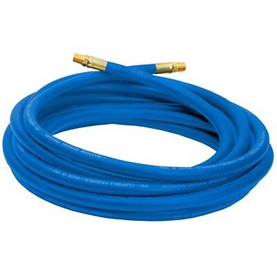 Campbell Hausfeld Air Hose 25ft 3/8-Inch Reinforced PVC Hose with Brass Blue
