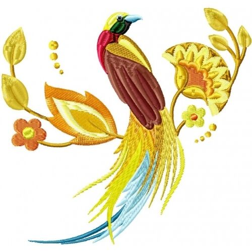 Embroidered Sweatshirt - Delicate Birds PE02