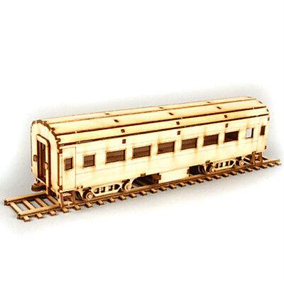 New HO(1/87) Passenger Train Assembly Wood Kit