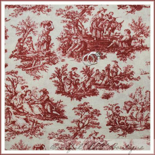 Red Toile Fabric | eBay