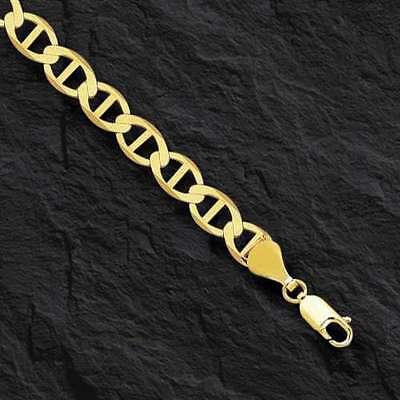 """14kt Solid Yellow Gold Mariner Link Bracelet 3.5 mm 7"""""""