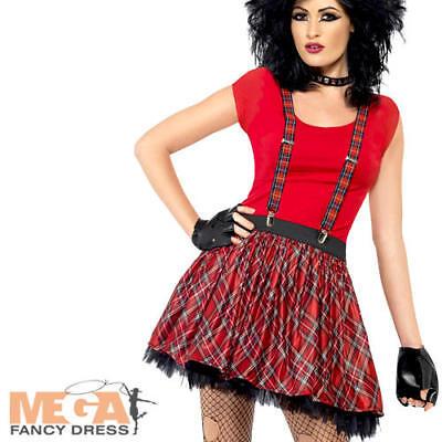 80s Punk Kit Ladies Fancy Dress 1980s Gothic Rocker Adults Costume Accessory - Punk Rocker Fancy Dress Kostüm
