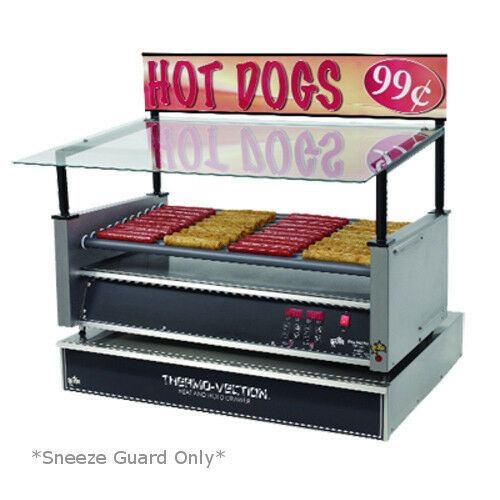 Star 30sg-g Hot Dog Grill Sneeze Guard Glass Canopy *sneeze Guard Only*