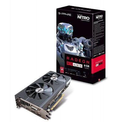 Sapphire Radeon NITRO Rx 480 8GB GDDR5 Dual HDMI / DVI-D / Dual DP OC w/ Back Pl