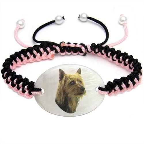 Australian Terrier Mother of Pearl Bracelet Gift BS0077