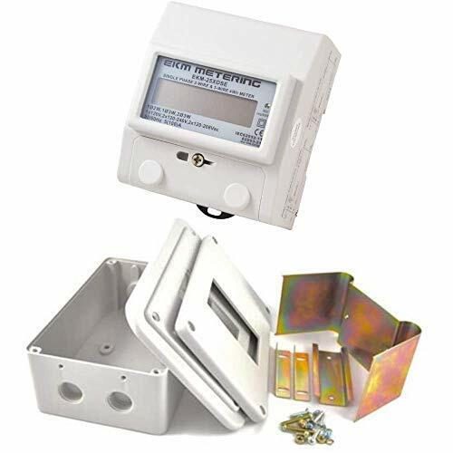 EKM Metering  kWh Meter and Indoor Enclosure Kit Bundle- 2/3-Wire, Single Phase