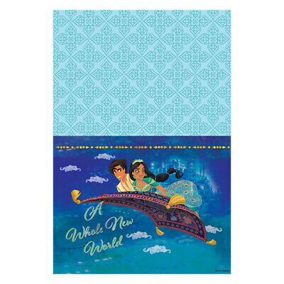 ALADDIN PAPER TABLE COVER ~ Birthday Party Supplies Decoration Cloth Disney Blue](Paper Table Cloth)