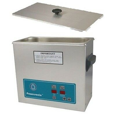 Crest Powersonic Ultrasonic Cleaner 1.5 Gallon Timer Heat P500h-45 Basket