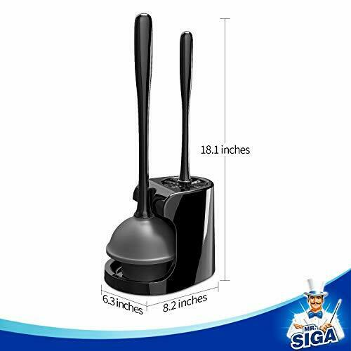 MR.SIGA Toilet Plunger and Bowl Brush Combo for Bathroom Cle