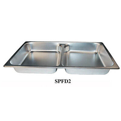 Winco Spfd2 2.5-inch Deep Full-size Stainless Steel Divided Steam Table Pan N