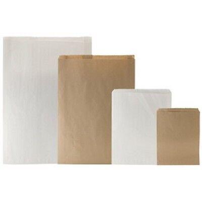 Lots Of 100 White Or Brown Kraft Merchandise Bags Gift Bags Store Bags Paper Bag
