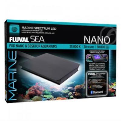 "SEA MARINE NANO (5"" X 5"") BLUETOOTH AQUARIUM LED LIGHT (20 WATT) - FLUVAL"
