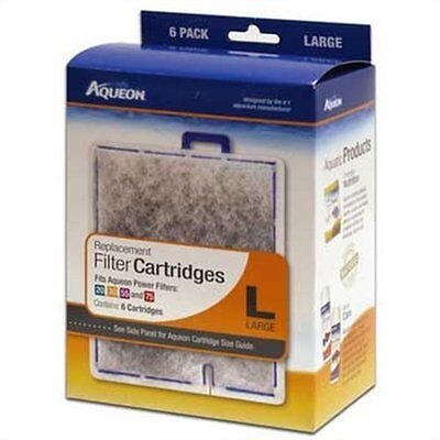 Aqueon  Replacement Cartridges Large 6 Pack for Filter QuietFlow 20-70 Lg 06088
