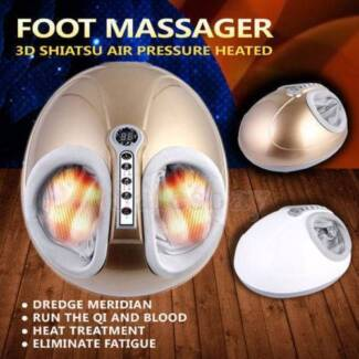 3D Deluxe Shiatsu Air Pressure Heated Foot Massager Heating