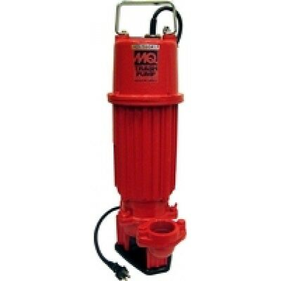 Multiquips St2010tcul Submersible Trash Pump 45 Ft. Head 1 Hp 2 115v 95 Gpm
