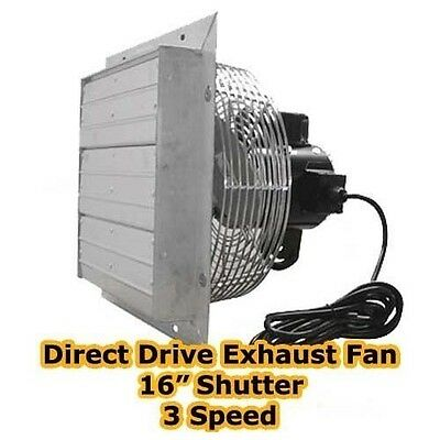 Exhaust Fan - 16 Shutter - 3 Speed - Direct Drive - 3000 Cfm - 1570 Rpm