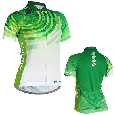 Green Women Cycling Jersey Gear Breathable Bike Sports Wear Cycle Clothing S-XL