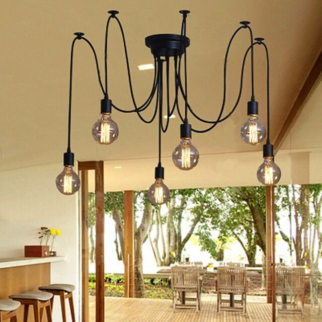 Kitchen Pendant Light Black Lighting Bar Lamp Bedroom Ceiling Lights