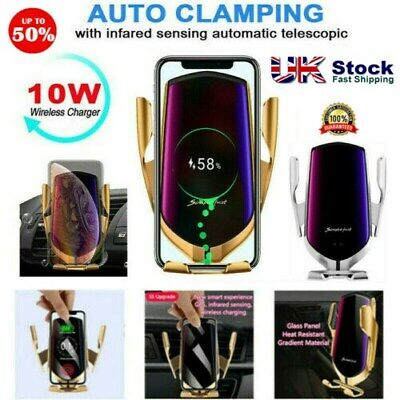 Wireless Automatic Sensor Car Phone Holder and Charger - UK STOCK - Xams Gift