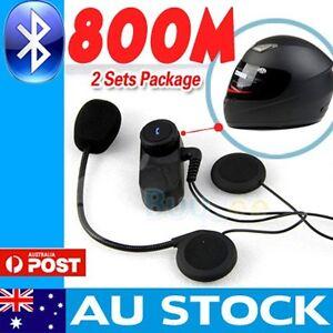 2-x-800M-BT-interphone-Bluetooth-Motorbike-Motorcycle-helmet-intercom-Headset-AU