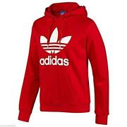 Mens Red adidas Hoody