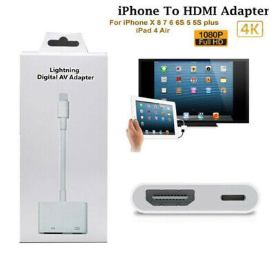 Lightning To HDMI Digital AV TV Cable Adapter For iPhone iPad 6 7 8 X 11 Pro