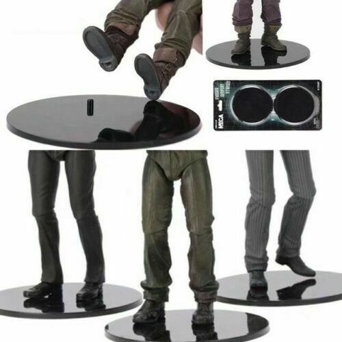 6 – 8″ Inch Action Figure Display Stand 10/Pack Compatible Figure – Black Action Figures