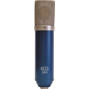 NEW MXL 3000 CONDENSER MICROPHONE, MIC CLIP, FLIGHT CASE