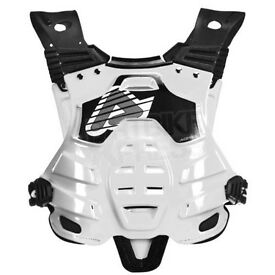New Adult Acerbis Profile Body Armour Motocross Neck Brace Compatible White