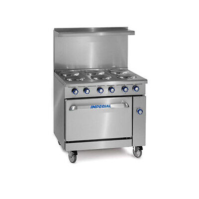 Imperial Ir-6-e 36 Electric Restaurant Range With Six Round Elements