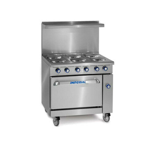 "Imperial Ir-6-e 36"" Electric Restaurant Range With Six Round Elements"