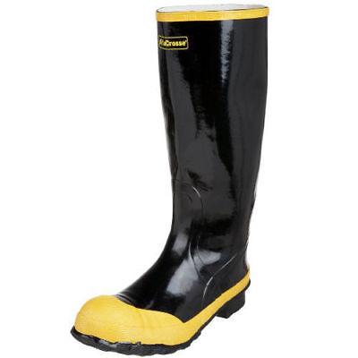 "LaCrosse Mens Economy Knee 16"" Steel Toe Black Work Boot New"