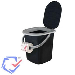 Branq wc portatile toilette bagno secchio turistico campeggio camping ebay - Bagno portatile ...
