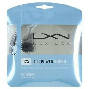 LUXILON ALU POWER ROUGH 125 TENNIS STRING SET - 3.SETS PACK -