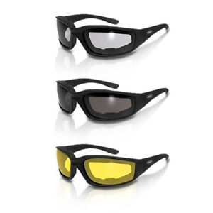 3 PAIR Chopper Padded Wind Resistant Sunglasses Motorcycle Riding Glasses COMBO